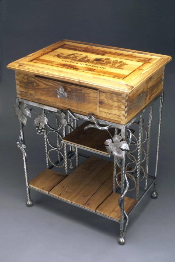Wine Table With Rack